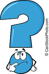 Blaues Fragezeichen