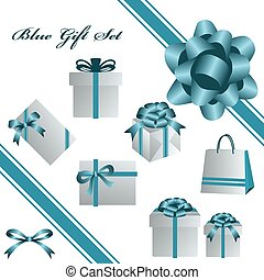 Blaues Geschenkset