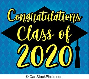 blaues, klasse, 2020, glückwünsche, banner