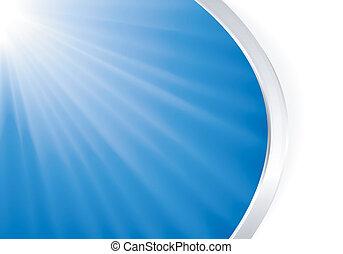 Blaues Licht ausbrechen mit Silber