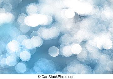 Blaues Licht im Hintergrund.