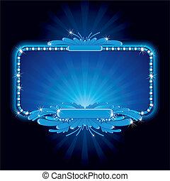 Blaues Neonzeichen