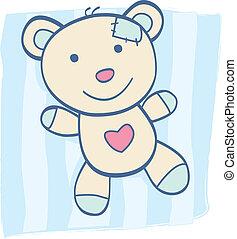 blaues, teddybär