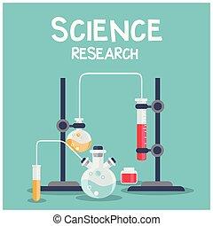 blaues, wissenschaft, bild, forschung, chemische , vektor, hintergrund, laboratorium