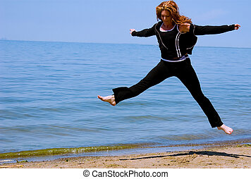 Bleib fit - springe