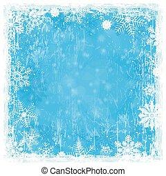 Blue grunge Christmas Hintergrund.