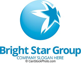 Blue Star Logo Vorlage.