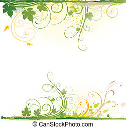 blumen-, dekorativ, hintergrund
