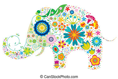 Blumen-Elefant