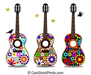 Blumen-Gitarre