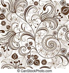 blumen muster, wiederholen, white-brown
