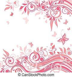 blumen-, rosa, karte
