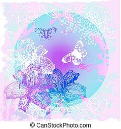 Blumen- und Schmetterlingshintergrund entfernen
