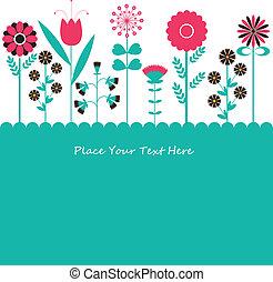 Blumen. Vektor Illustration