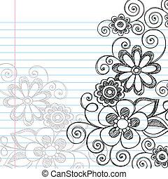 Blumen zwielichtiger Doodles Vektor