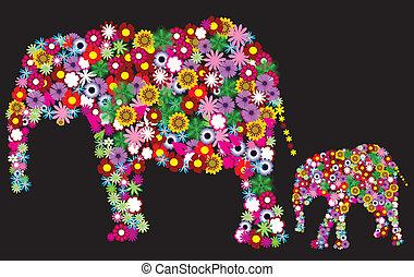 Blumenelefanten