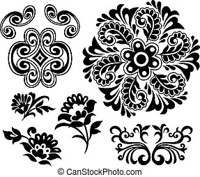 Blumenelementdesign