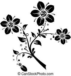 Blumenelemente für Design, Vektor