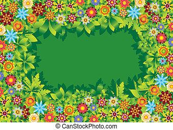 Blumengärtenvektor