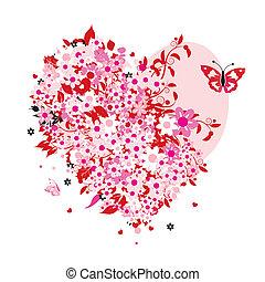 Blumenherzform