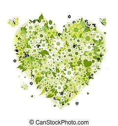 Blumenherzform, Sommergrün