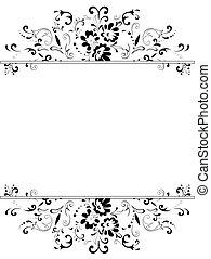 Blumenrahmen in Schwarz-Weiß