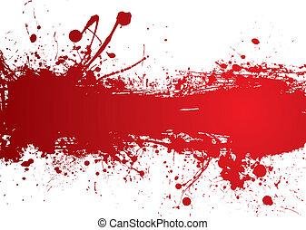 Blutstreifen-Banner