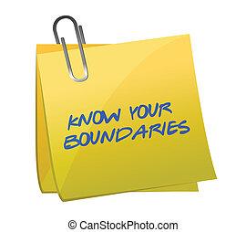 boundaries., design, wissen, abbildung, dein