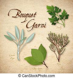 Bouquet Garni, französische Kräutermischung.