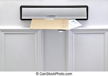 Briefkasten und Briefe