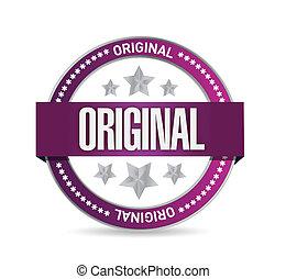 briefmarke, design, original, abbildung, siegel