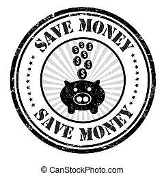briefmarke, geld, retten