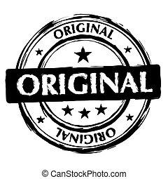 briefmarke, original, tinte