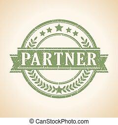 briefmarke, partner