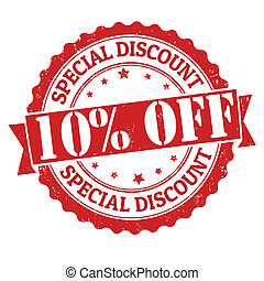 briefmarke, rabatt, aus, besondere, 10%