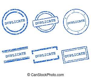 briefmarken, duplikat