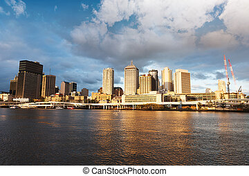 Brisbane urbane Landschaft.