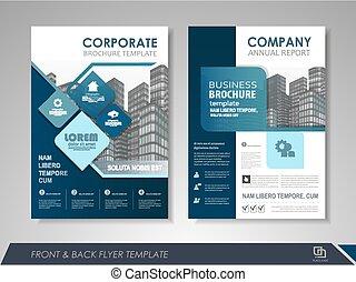 broschüre, design, template!, plan