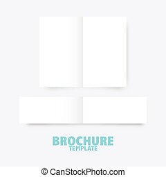 broschüre, geschaeftswelt, schablone
