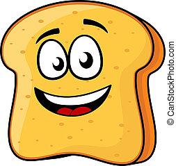 Brot oder Toast mit einem Lächeln.
