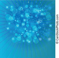 Bubbles helles Licht im Hintergrund.