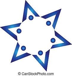 Buch-Team-Leute-Logo