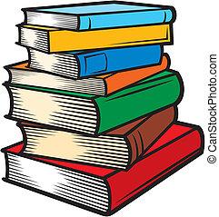 Buchstapel (Bücher stapeln)