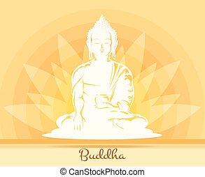 Buddha mit Lotusblüte