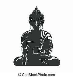 Buddha-Vektor-Silhouette