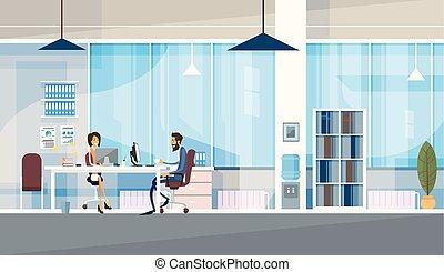 buero, geschaeftswelt, sitzen, leute, co-working, zusammen, zentrieren, arbeitende , kreativ, buero