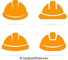 Builder Orange Sicherheitshelm Icon.
