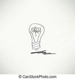 BULB ICON MIT IDEA CONCEPT.