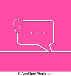 Bulb light idea concept.