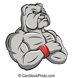 Bulldog, starkes Maskottchen.